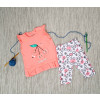 Βρεφικό σετ 2τμχ. αμάνικο μπλουζάκι και κολάν κερασάκια 50515537 κοραλί