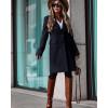 Γυναικείο κομψό παλτό με φόδρα 5355 μαύρο
