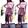 Γυναικείο μπλουζοφόρεμα με τούλι 5483 ροζ