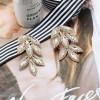 Γυναικεία εντυπωσιακά σκουλαρίκια SP224 χρυσαφί