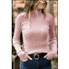 Γυναικεία μπλούζα ζιβάγκο 81026 ανοιχτό ροζ