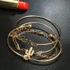 Γυναικείο σετ βραχιόλια 4τμχ. SP142  χρυσαφί